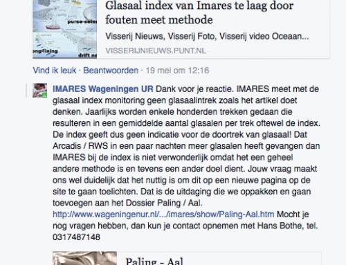 Imares belooft openheid glasaal-zaken na berichtgeving Climategate.nl, maar liegt direct