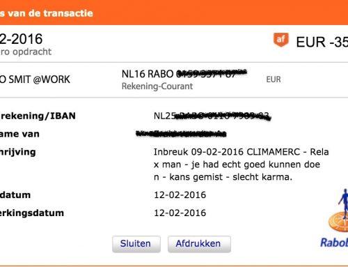 Graag een bijdrage tegen schade naargeestig principieel mannetje (nog 75 euro)