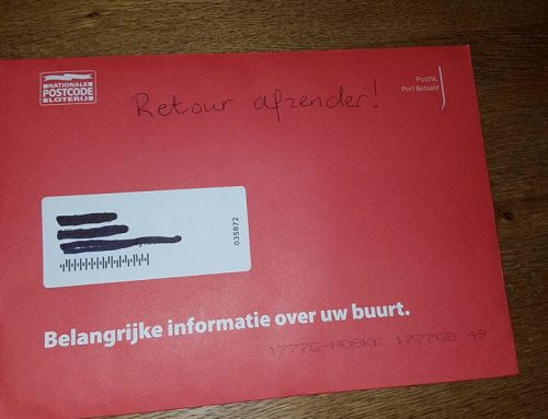 To Hell with the Devil: SPAM van Postcode Loterij retour afzender