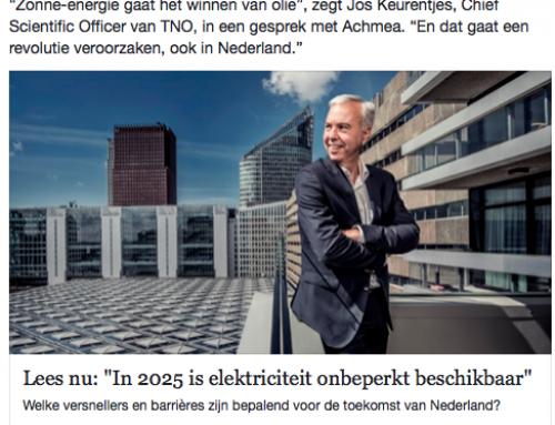 Is het liegen of wensdenken wat Jos Keurentjes (TNO) met Achmea doet?