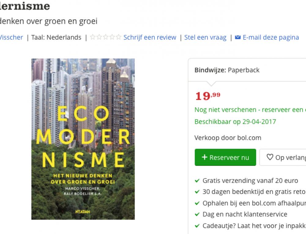 Ecomodernisme, het Nieuwe Denken over Groen en Groei bij Bol.com