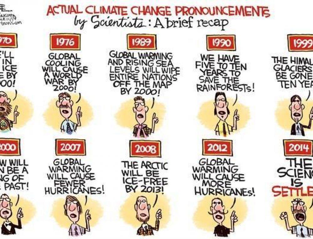 Over klimaatvoorspellingen