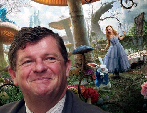 Belgische milieuminister, Bart Tommelein, in Wonderland