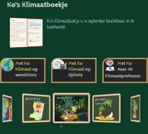 Ko Klimaat voor kinderen alfred knol en jeroen visbeek klimaat met zijn hondje einstein informatie over het klimaat Klimaatboekje