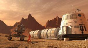 Ruimtevaart Menswaardige leefomstandigheden op Mars Door het ontbreken van een ozonlaag is de Uv-straling moordend op de planeet Mars