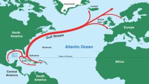 Omslagpunt voor het klimaat in Europa: de Golfstroom raakt buiten adem aarde stroom water golfstroom noord-atlantische oceaan
