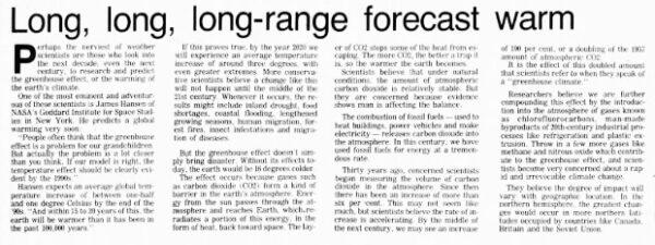 Tien voorspellingen van klimaatalarmisten voor 2020 die er naast zaten Het lijkt erop dat het klimaat-Armageddon een sabbatical heeft genomen