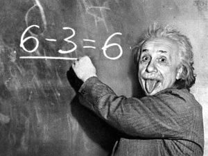 Einstein en onze energierekening geen serieuze bijdrage over klimaatverandering maar gewoon een aardig zijpaadje met een knipoog