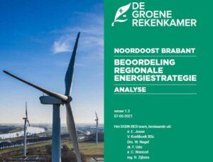 Groene Rekenkamer Windenergie Noordoost Brabant is niet geschikt voor windmolens in het kader van de Regionale Energiestrategie (RES)