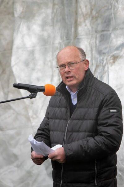 Windmolenbonanza Koning Willem-Alexander en Nieuw Leiderschap toespraak van Kees Pieters (NederWind) op de protestdemonstratie